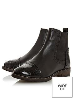 dune-london-wide-fit-queston-brogue-chelsea-ankle-boots-black