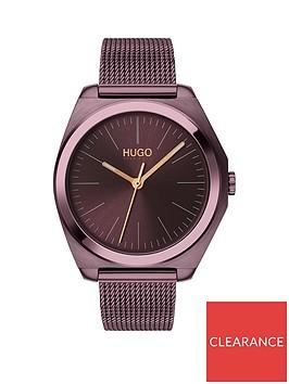 hugo-hugo-imagine-aubergine-and-rose-gold-detail-dial-aubergine-stainless-steel-mesh-strap-ladies-watch