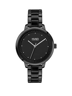 hugo-hugo-achieve-black-and-silver-detail-dial-black-ip-stainless-steel-bracelet-ladies-watch