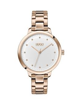 hugo-hugo-achieve-white-dial-carnation-gold-stainless-steel-bracelet-ladies-watch