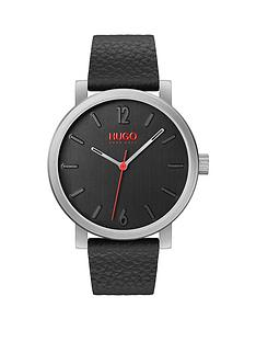 hugo-rase-black-and-red-detail-dial-black-leather-strap-mens-watch