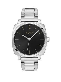 hugo-hugo-own-black-dial-stainless-steel-bracelet-mens-watch