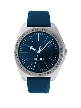 hugo-hugo-act-blue-sunray-and-stainless-steel-dial-blue-silicone-strap-mens-watch