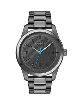 hugo-hugo-create-grey-textured-and-blue-detail-dial-grey-ip-stainless-steel-bracelet-mens-watch