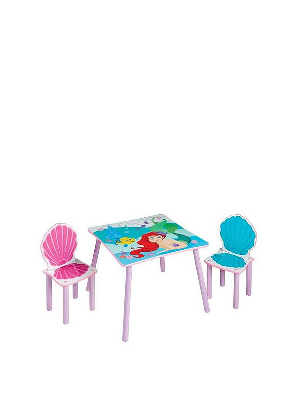 Disney Princess Ariel Kids Table And 2 Chairs By Hellohome Very Co Uk
