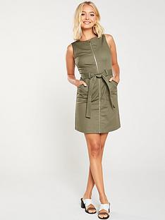 oasis-utility-shift-dress-khaki