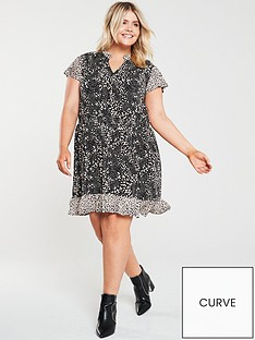 oasis-curve-mollie-animal-print-dress-multi