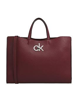 calvin-klein-re-lock-tote-bag-red