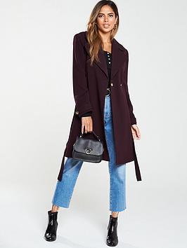 oasis-lightweight-wrap-coat-burgundy