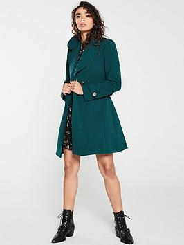 oasis-lightweight-wrap-coat-mid-green