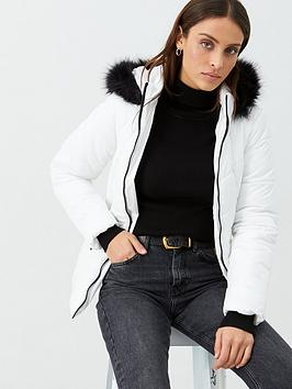 v-by-very-short-faux-fur-trim-coat-white
