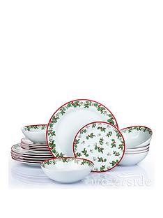 waterside-christmasnbspholly-18-piece-dinner-set