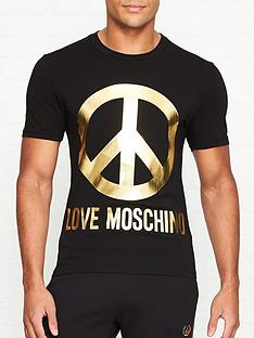 love-moschino-peace-sign-slim-fit-t-shirt-black