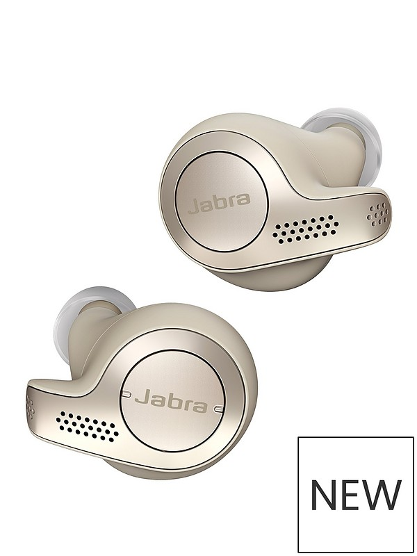 ac2d6f036b7 Jabra Elite 65t Truly Wireless Earbuds with Bluetooth® 5.0 and IP55  Waterproof Rating - Gold Beige