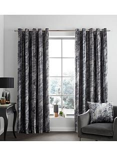 catherine-lansfield-marble-velvet-eyelet-curtains