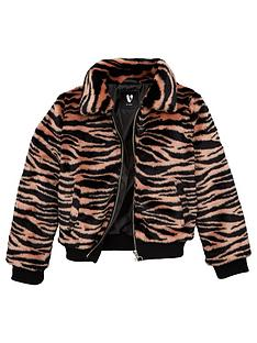 v-by-very-girls-zebra-faux-fur-coat-pink
