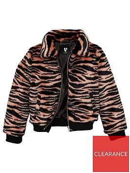 v-by-very-girls-zebra-faux-fur-coat-pink