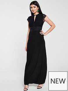 v-by-very-lace-trim-maxi-dress-black