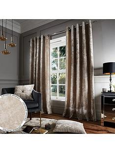 catherine-lansfield-nbspcrushed-velvet-eyelet-curtains