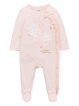 baker-by-ted-baker-baby-girls-flamingo-print-sleepsuit-light-pink