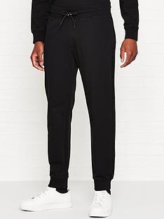 emporio-armani-tapered-logo-print-joggers-black