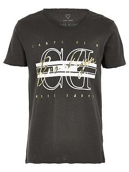 river-island-boys-carpe-diem-foil-print-t-shirt-black