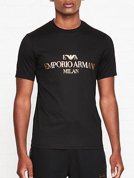 emporio-armani-metallic-logo-print-t-shirt-black