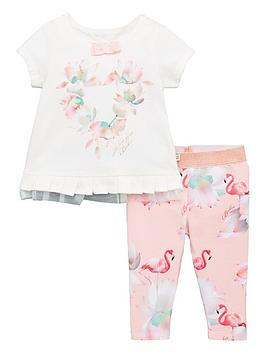 baker-by-ted-baker-baby-girls-flamingo-t-shirt-amp-legging-outfit-light-pink