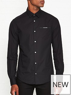 emporio-armani-logo-tape-long-sleeve-shirt-black