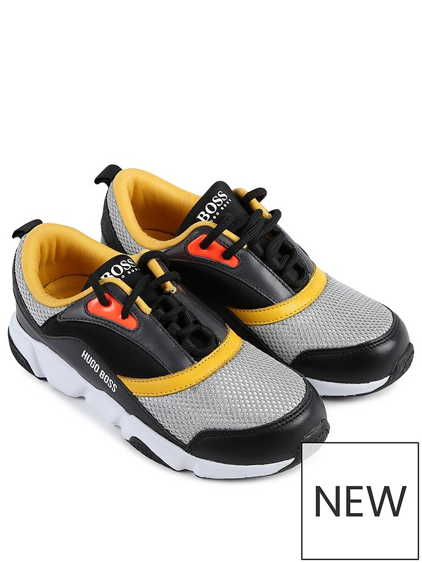 beautiful in colour elegant appearance best cheap Boys Colour Block Lace Up Trainers - Black