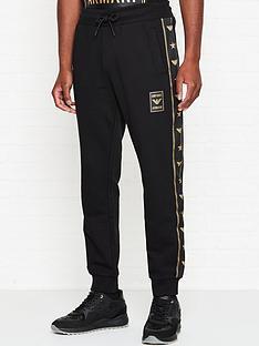 emporio-armani-eagle-tape-zip-thru-joggers-black