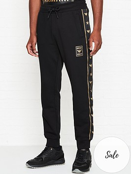 emporio-armani-eagle-tape-zip-thru-joggers-black