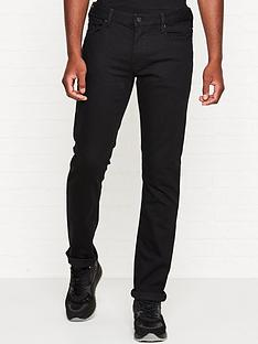 emporio-armani-j06-slim-fit-logo-patch-jeans-black