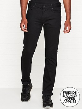 emporio-armani-j06-slim-fit-logo-patch-jeans-black