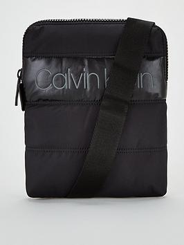 calvin-klein-padded-flat-crossover-bag-black