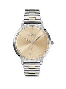 boss-boss-champagne-sunray-and-silver-detail-dial-two-tone-stainless-steel-bracelet-ladies-watch
