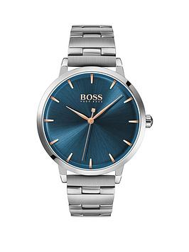 boss-blue-sunray-and-silver-detail-dial-stainless-steel-bracelet-ladies-watch