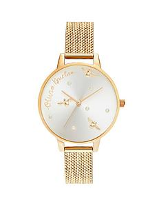 olivia-burton-olivia-burton-pearly-queen-silver-sunray-and-gold-detail-dial-gold-stainless-steel-mesh-boucle-strap-ladies-watch