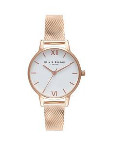 olivia-burton-olivia-burton-white-dial-rose-gold-stainless-steel-mesh-strap-ladies-watch