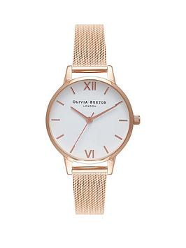 olivia-burton-white-dial-rose-gold-stainless-steel-mesh-strap-ladies-watch