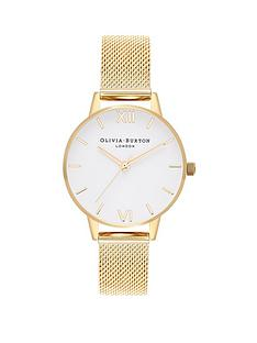 olivia-burton-olivia-burton-white-dial-gold-stainless-steel-mesh-strap-ladies-watch