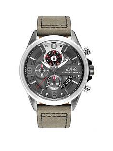 avi-8-avi-8-hawker-hunter-black-and-blue-detail-chronograph-dial-black-leather-strap-mens-watch
