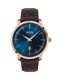 boss-boss-classic-blue-sunray-and-rose-gold-detail-date-dial-brown-leather-strap-mens-watch