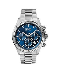 boss-boss-hero-sport-lux-blue-sunray-chronograph-dial-stainless-steel-bracelet-mens-watch