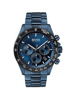 boss-boss-hero-sport-lux-blue-sunray-chronograph-dial-blue-ip-stainless-steel-bracelet-mens-watch