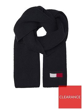 tommy-hilfiger-big-flag-scarf-black