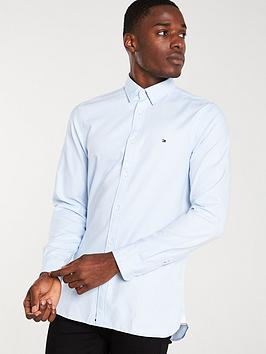 tommy-hilfiger-four-way-stretch-long-sleeved-shirt-chambray-blue