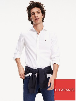 tommy-hilfiger-slim-4-way-stretch-long-sleeve-shirt-white
