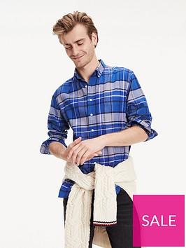 tommy-hilfiger-classic-tartan-long-sleeved-shirt-blue