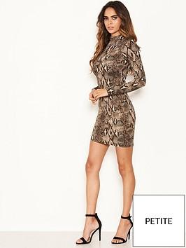 ax-paris-petite-ax-paris-petite-grey-snake-print-bodycon-dress